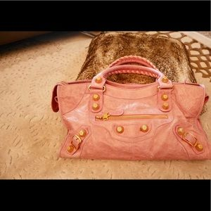 Balenciaga Motorcycle City Bag in Rose Pink